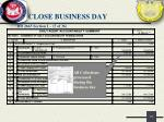 close business day10
