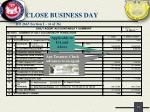 close business day11