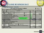 close business day15