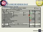close business day16