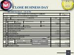 close business day17