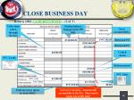 close business day4