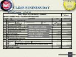 close business day8
