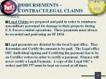 disbursements contract legal claims1