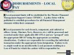 disbursements local pay