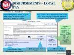 disbursements local pay2