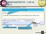 disbursements local pay4