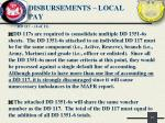 disbursements local pay5