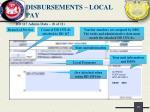 disbursements local pay7