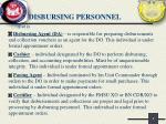 disbursing personnel1