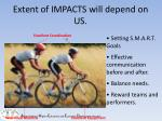 extent of impacts will depend on us