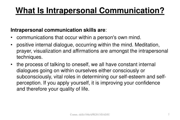 intrapersonal communication meaning