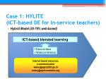 case 1 hylite ict based de for in service teachers1