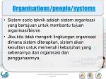 organisations people systems