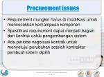 procurement issues