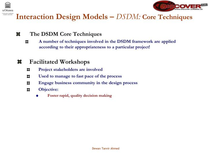 Interaction Design Models