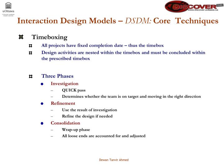 Interaction Design Models –