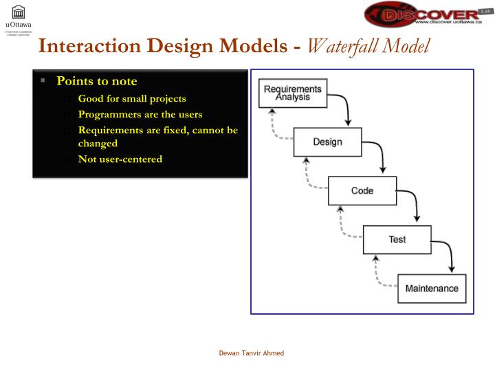 Interaction Design Models -