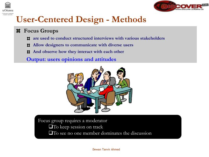 User-Centered Design - Methods