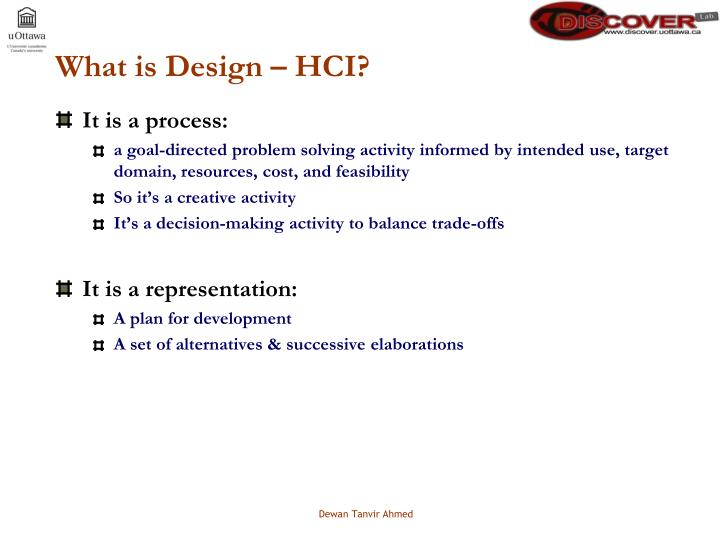 What is Design – HCI?