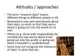 attitudes approaches