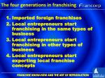 the four generations in franchising