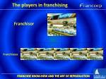 the players in franchising1
