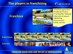 the players in franchising3