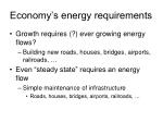 economy s energy requirements