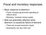 fiscal and monetary responses