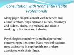 consultation with nonmental health professionals