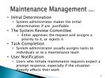 maintenance management cont2