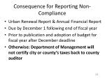 consequence for reporting non compliance