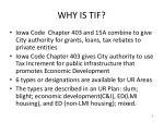 why is tif