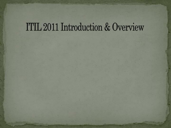 itil 2011 introduction overview n.