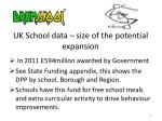 uk school data size of the potential expansion2