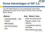 some advantages of sif 3 0