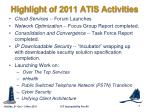 highlight of 2011 atis activities1