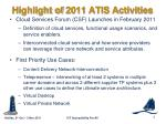 highlight of 2011 atis activities2