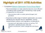 highlight of 2011 atis activities3