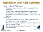 highlight of 2011 atis activities6