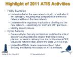 highlight of 2011 atis activities7
