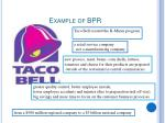example of bpr