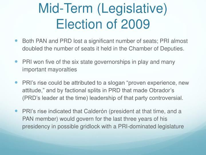 Mid-Term (Legislative) Election of 2009