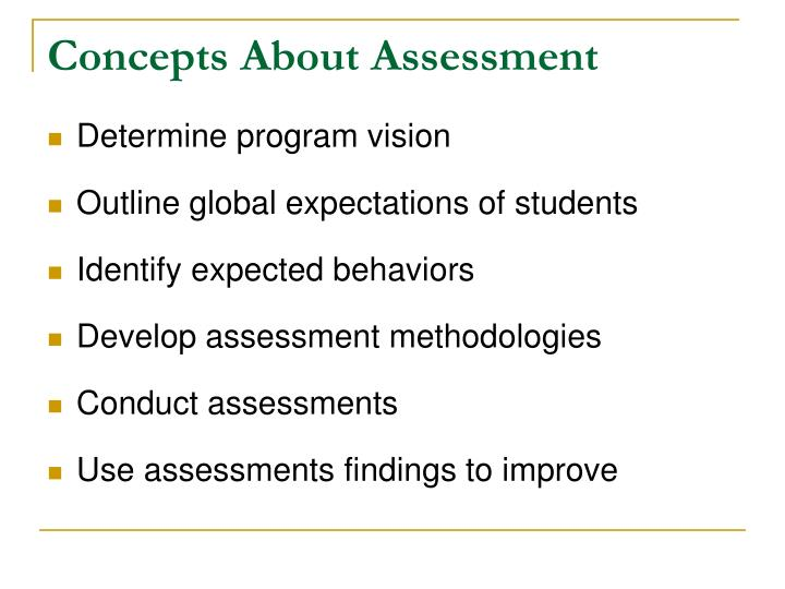 Concepts About Assessment