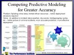 competing predictive modeling for greater accuracy