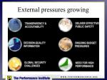 external pressures growing