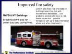 improved fire safety