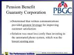 pension benefit guaranty corporation1