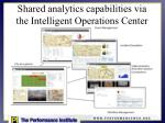 shared analytics capabilities via the intelligent operations center